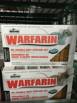 Warfarin Ensemble de point d'appât réutilisable 448g - Pépinière