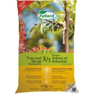Terreau 3/1 pour arbres et arbustes 12kg - Pépinière