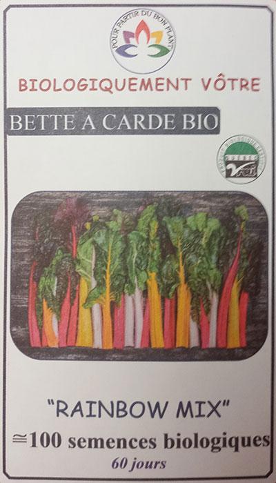 Bette à Carde Mélange Bio / Swiss Chard Mix Bio - Pépinière