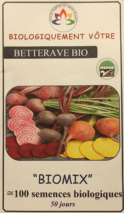Betterave Mélange Bio / Beet Mix Bio - Pépinière