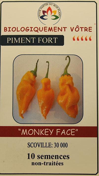 Piment Jaune 'Monkey Face' Non Traité / 'Monkey Face' Yellow Hot Pepper Untreated  - Pépinière
