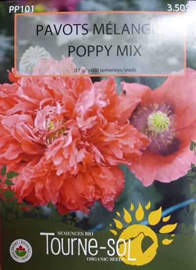 Pavots Mélange / Poppy Mix  - Pépinière